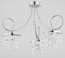 I cristalli 3 Bracci Lampadario di lusso Appartamento moderno luce corridoio sala da pranzo DIANA nuovi