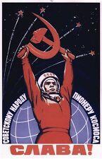 Vintage Union soviétique cosmonaute Propaganda Poster A1/A2/A3 impression