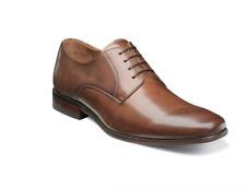 Florsheim Postino Men's Plain Toe Oxford Cognac Leather Dress Shoes 15150-221
