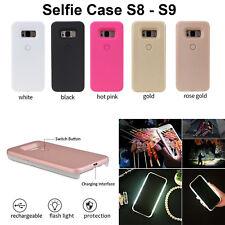 Selfie Case Cover LED Light Up Bright Back Flashlight Samsung Galaxy S8 S9 Plus