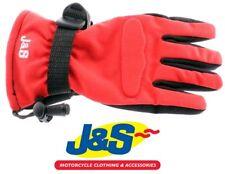 J&S Boy Racer Kids Motorcycle Glove Children's Motorbike Gloves Red Junior J&S