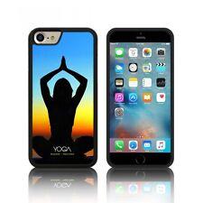 'Yoga' étui en Silicone pour Apple iPHONE 6, 6S ,7 PLUS Caoutchouc Noir TPU Gel