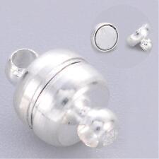Oval magnético broches de plata u oro de latón 11 Mm x 7 mm Broches De Pulsera Magnética