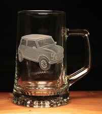 Mini Car Classic engraved glass tankard gift present