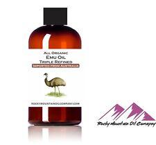 100% PURE ORGANIC AUSTRALIAN EMU OIL TRIPLE REFINED 1 2 4 6 8 16 32 oz