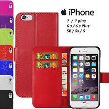 Lusso Di Pelle Flip A Portafoglio Custodia Cover Marsupio per iPhone Apple 7