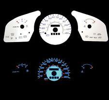 NEW 97-01 Ford Escort w/o Tach Blue Indiglo Glow White Gauges 97 98 99 00 01