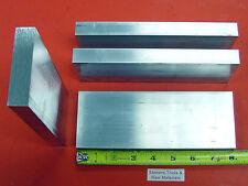 "4 Pieces 5/8"" X 3"" ALUMINUM 6061 FLAT BAR 8"" long .625"" Solid Plate Mill Stock"