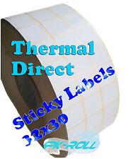 Thermique direct blanc les étiquettes adhésives 32x30mm 1,3 x 1,2 pouces Zebra gc420d et plus