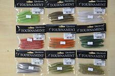 """DAIWA Tournament d'tail """"esche morbide - 3"""" o 4"""" Scelta di Colori"""