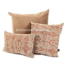 New Soft Woven Egyptian Theme Brown Orange Geometric Pattern Fabric Cushion