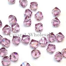 6mm Light Amethyst Genuine Swarovski crystal 5328 XILION Loose Bicone Beads