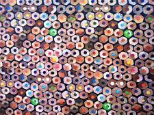 Nappe De Table En Toile Cirée carré rond ovale lavable Crayons de couleur école