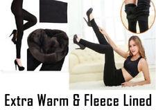 Nuevo para mujer Ladies Invierno Polar Térmico Caliente elástico grueso de longitud completa Leggings