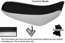 Blanco Y Negro Custom 00-12 encaja Suzuki Drz 400 real de piel cubierta de asiento
