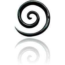 PAIR OF BUFFALO HORN 6g (4MM) SPIRALS plugs body jewelry PLUG
