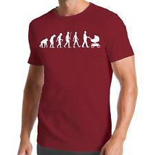 Evolution Kinderwagen T-Shirt | Papa | Vater | Kind | Familie | Tochter | Sohn