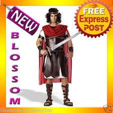 C37 Gladiator Hercules Roman Toga Men Fancy Dress Costume M L XL Plus