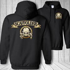 Scaffolder skull hooded sweatshirt - scaffolding hammer wrench crossbones hoodie