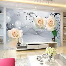 3D Jasmin Blanc 088 Photo Papier Peint en Autocollant Murale Plafond Chambre Art