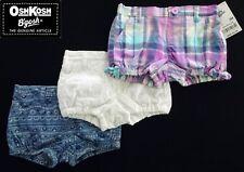 NWT OshKosh Baby B'gosh GirlsBubble Shorts(Size 0-3M, 6M, 9M, 18M, 24M) NEW