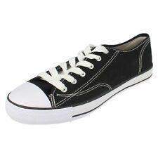 garçons et filles x0001 toile noire chaussures par Spot On