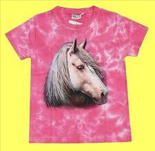 T-Shirt Pferd Pferde-Kopf Gr.98*104*110*116*122*128*134*140*146*152 Rosa Mustang