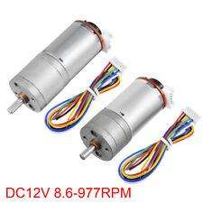 DC 12V 8.6-977RPM Encoder Gear Motor 226:1 Reduction Ratio Gearmotor w Encoder