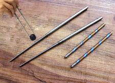 Protable Titanium Detachable Folding Chopsticks Travel Camping Tableware w/Pouch