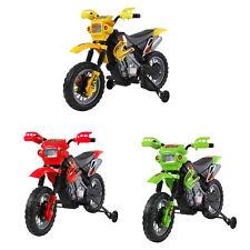HOMCOM – Moto Cross Elettrica per Bambini con Rotelle con Certificato