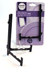 Modern Display Stand /Easel - Medium Black & Clear : Plate, Photo, Card, Mirror