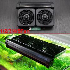 Aquarium Chillers Cooling Fan (1/2/5 fans) Clip on Fish Tank+Adapter 12V UK Plug