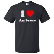 I Love Ambrose T shirt I Heart Ambrose Tee