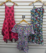 Girls Derek Heart Multi Colored Spaghetti Dress & Rompers