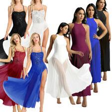 Women's Sleeveless Dance Costumes Praise Dance Ballroom Leotard Bodysuit Dress