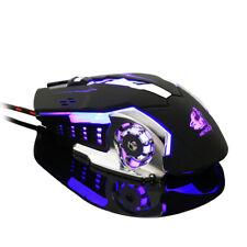 4000DPI Programmierbare 6 Tasten Gaming USB Maus 4 Farbe LED Kabelgebunden Mouse
