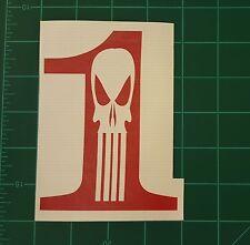 Number 1 Punisher Custom Vinyl  Sticker Car Window BumpersTool Box Movies Games