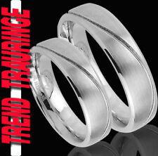 2 Trauringe GRAVUR GRATIS Verlobungsringe Trend Eheringe Partner Ringe * TE24