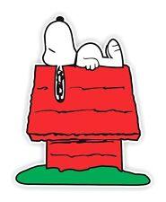 Snoopy Sleeping on House Decal / Sticker Die cut