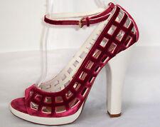 MARC JACOBS Wine Black or Beige Velvet Platform Shoes 9  9.5  or  10