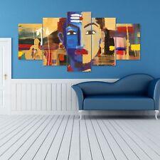 Shiva Split Painting 5 Frames Wall Art Panels for Living Room #004 - HKTPIC-US