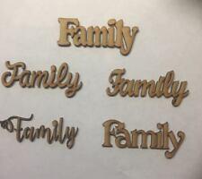5x famiglia MDF in legno taglio laser 3 MM spessore parola PLACCA Matrimonio Craft Balnk