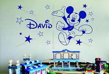 Mickey Mouse & Stars nombre personalizado Decoración De Pared De Vinilo Sticker Decal Dormitorio