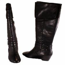 Alfani Carrie Womens Black Knee High Low Wedge Boots