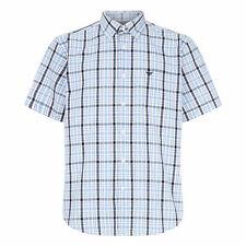 Morley Mens Lightweight Check Button Down Short Sleeve Shirt LJ604M