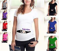 Maglia Premaman Manica Corta T-shirt Short Sleeve Maternity Wear MWTS006