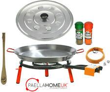 42cm - 50cm Paella Pan & 40cm TwoRings Gas Burner Kit +Original Spanish Gift