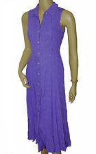 C026 - Ladies Purple Collar Shirt Shell Button Evening Dress - UK 8/10
