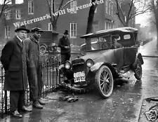 Photograph Vintage Image Auto Accident /  Car Wreck Washington DC 1921