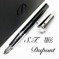 S.T. Dupont D-Initial Black Chrome Finish Fountain Pen